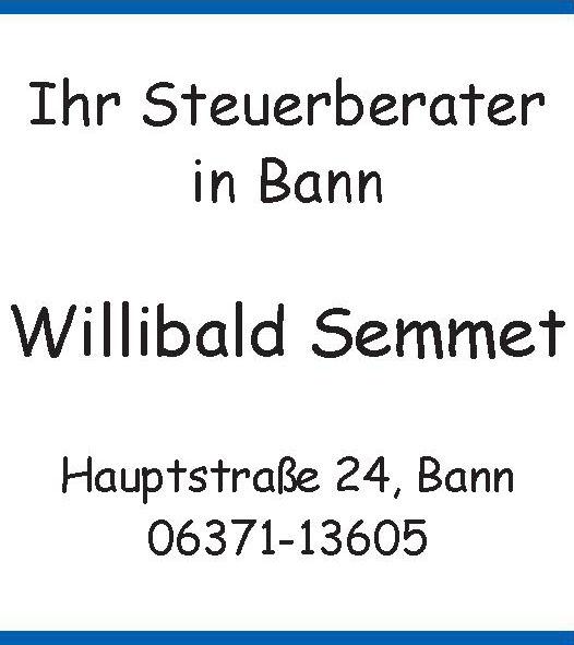 Steuerberater Willibald Semmet