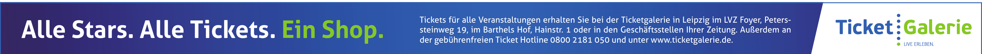 Ticketgalerie in Leipzig