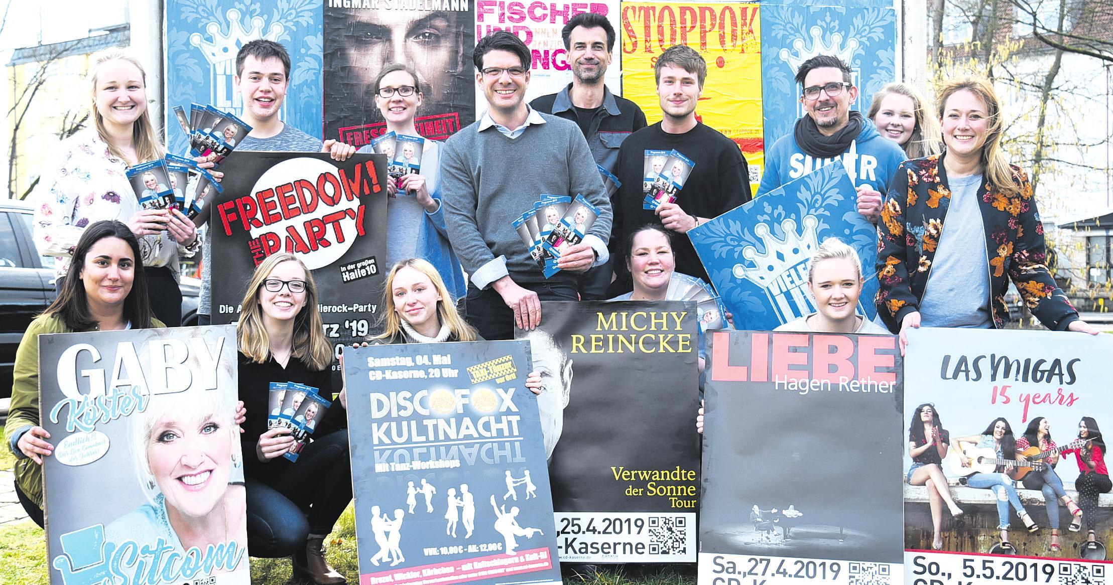 Das Team der CD-Kaserne Celle freut sich auf die bevorstehenden Veranstaltungen. Foto: Lisa Müller