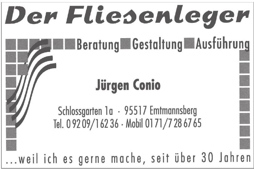 Der Fliesenleger Jürgen Conio