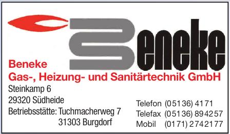 Beneke Gas-, Heizung- und Sanitärtechnik GmbH