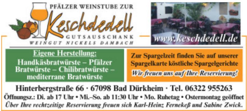 Pfälzer Weinstube Zur Keschdedell