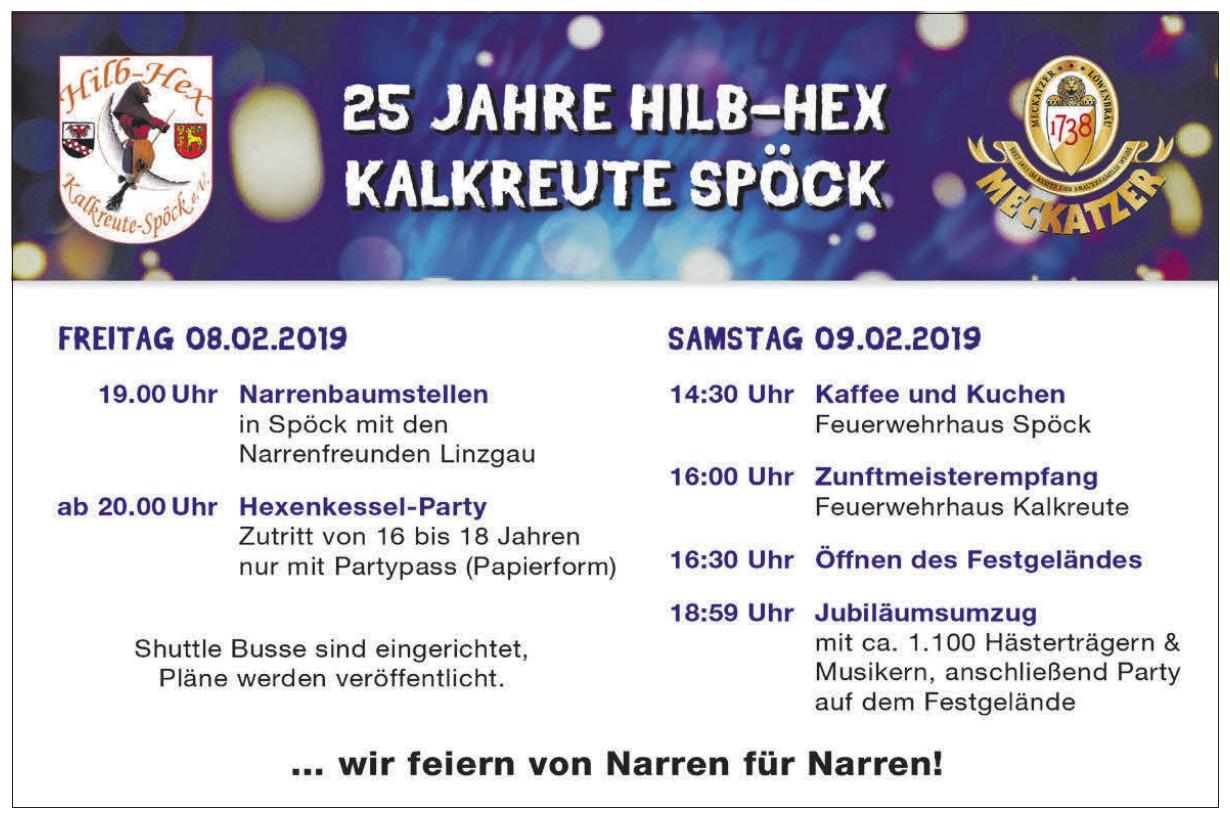 25 Jahre Hilp-Hex Kalkreute Spöck