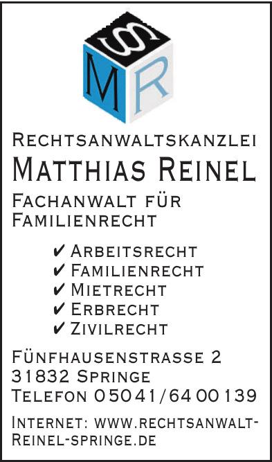 Rechtsanwaltskanzlei Matthias Reinel