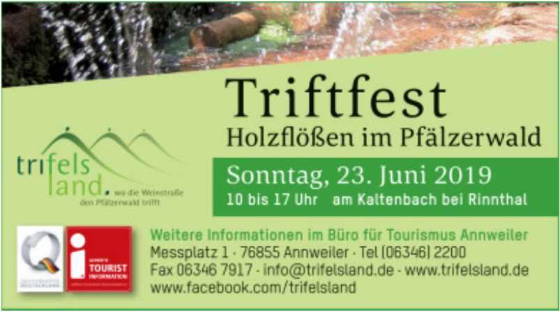 Triftfest Holzflößen im Pfälzerwald
