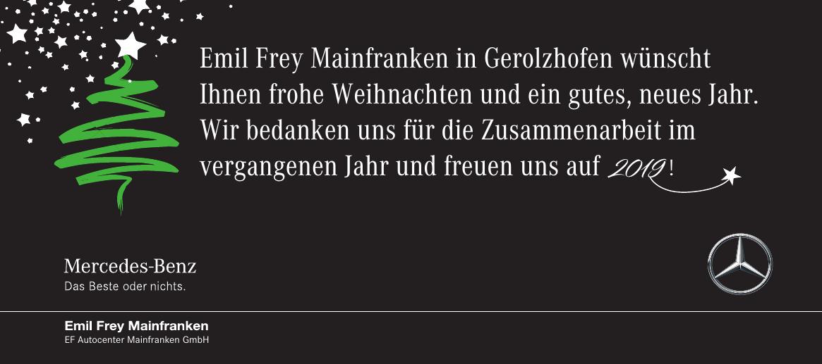 Mercedes-Benz - Emil Frey Mainfranken EF Autocenter Mainfranken GmbH