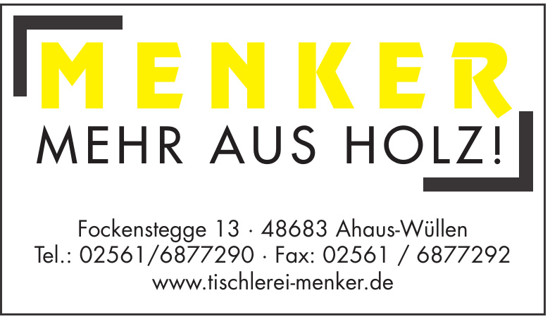Menker - Mehr aus Holz!