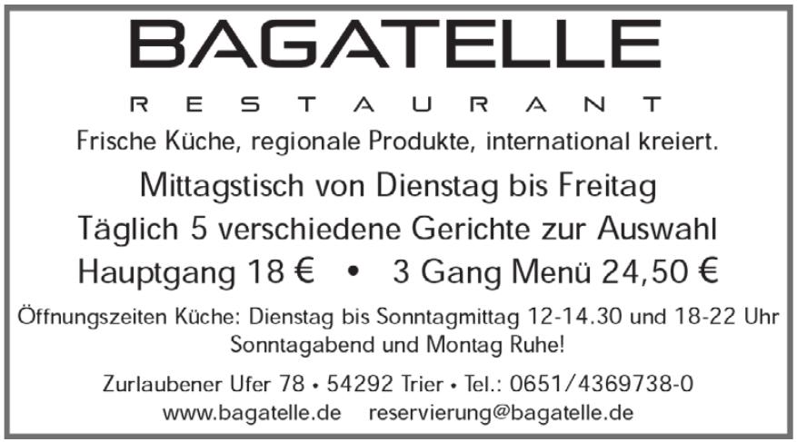 Bagatelle Restaurant