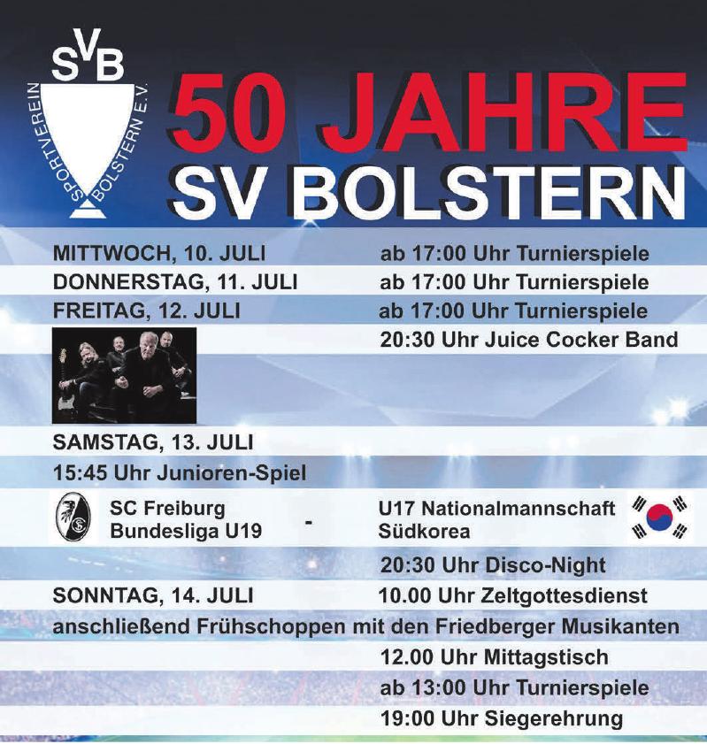 50 Jahre SV Bolstern