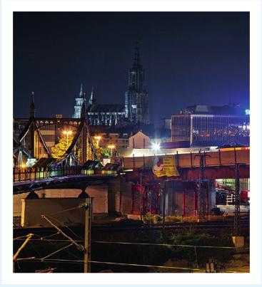 10. August 2016: Beginn des Taktschiebeverfahrens an der Kienlesbrücke