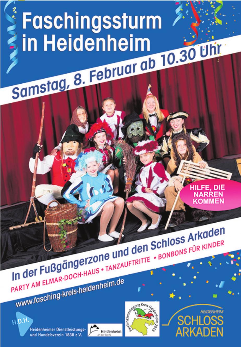 Heidenheim Schloss Arkaden - Faschingssturm in Heidenheim