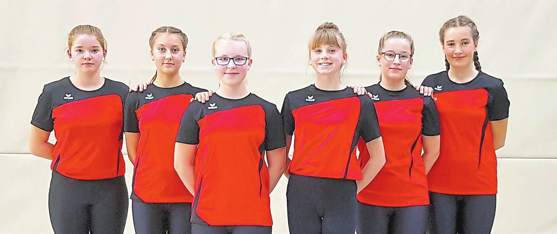 Sechser-Einrad Schülerinnen, 1. Mannschaft: Sina Lindemann, Juli Reiffenschneider, Finia Mutert, Birte Aufderhaar, Fenja Adomeit, Kim Beulting; 2. Platz Deutsche Meisterschaft, 2. Platz NRW-Landesmeisterschaft