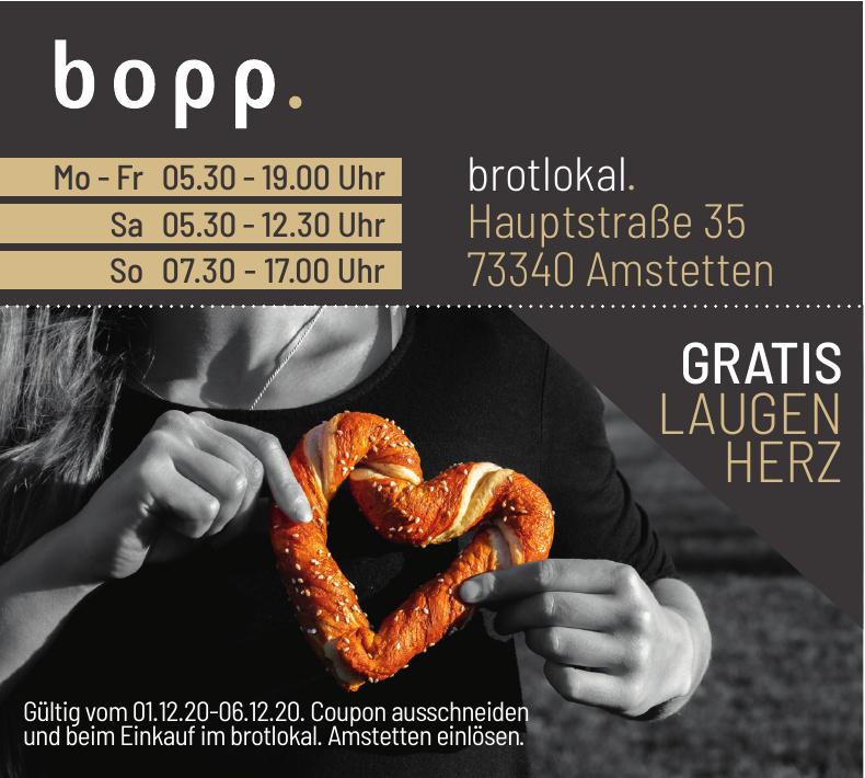 Brotlokal - Bopp