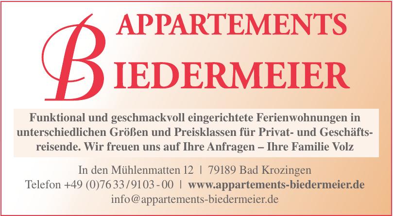 Appartements Biedermeier