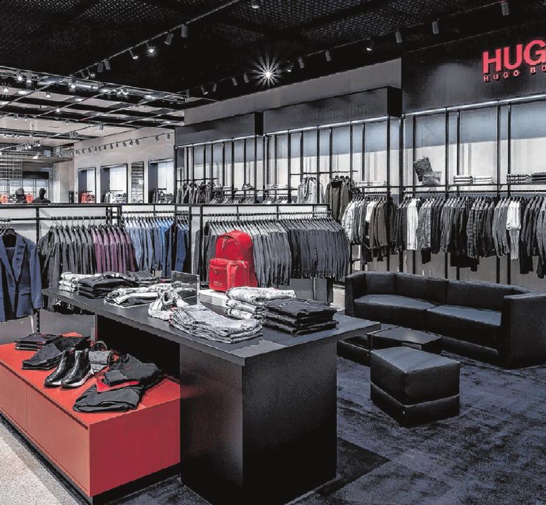 Die Auswahl ist riesig: Wer im neuen Outlet-Store von Hugo Boss auf Shoppingtour geht, wird mit Sicherheit fündig.