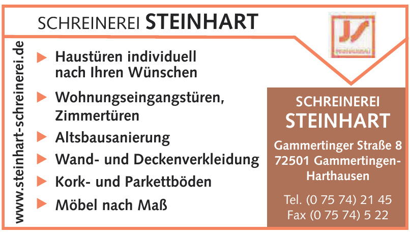 Schreinerei Steinhart