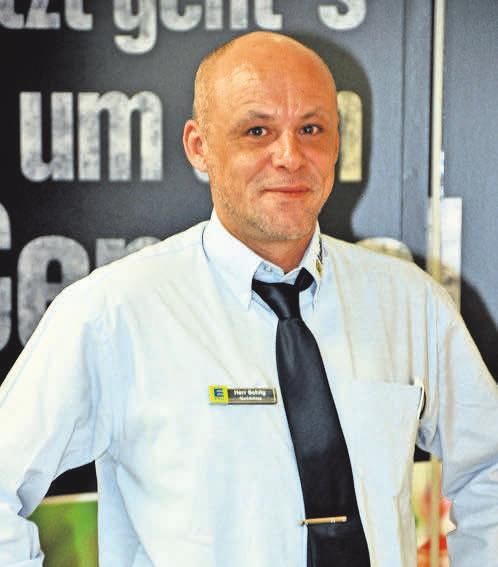 Marktleiter Mirco Schilg ist bei den Kunden überaus beliebt.