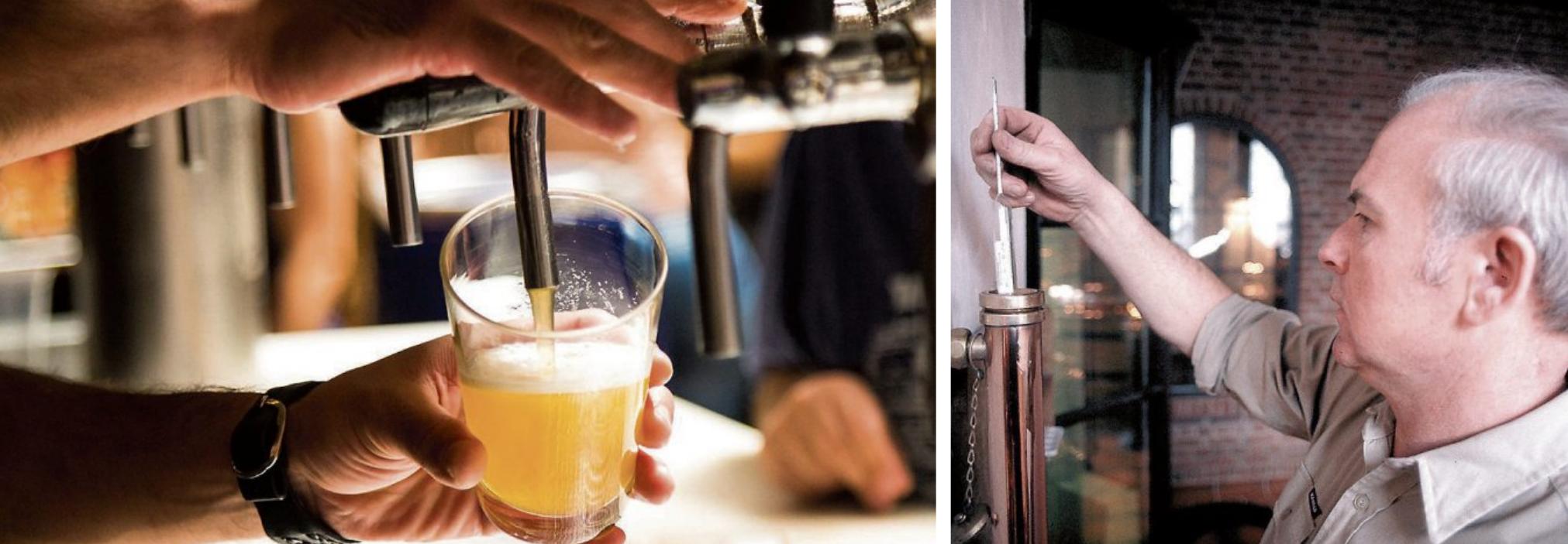 Ob frisch gezapft oder aus der Flasche: In Deutschland werden mehr als 5000 verschiedene Biere gebraut. Bild rechts: Deutscher Brauer-Bund e.V