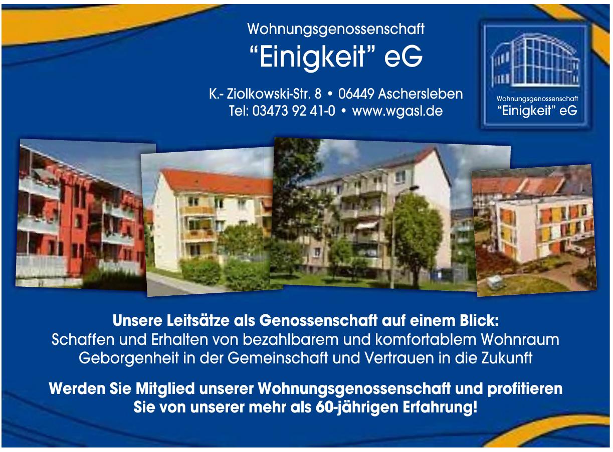 """Wohnungsgenossenschaft """"Einigkeit"""" eG"""