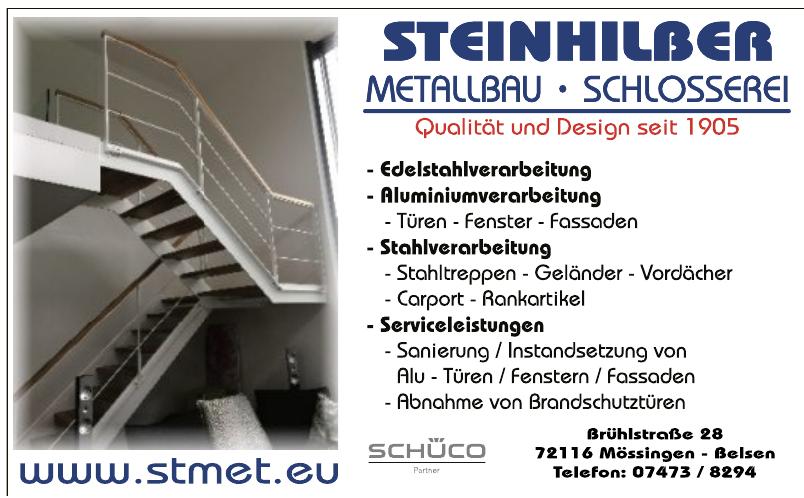 Steinhilber Metallbau, Schlosserei