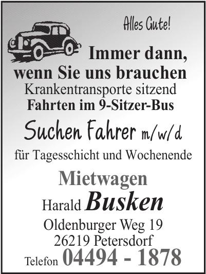 Mietwagen Harald Busken