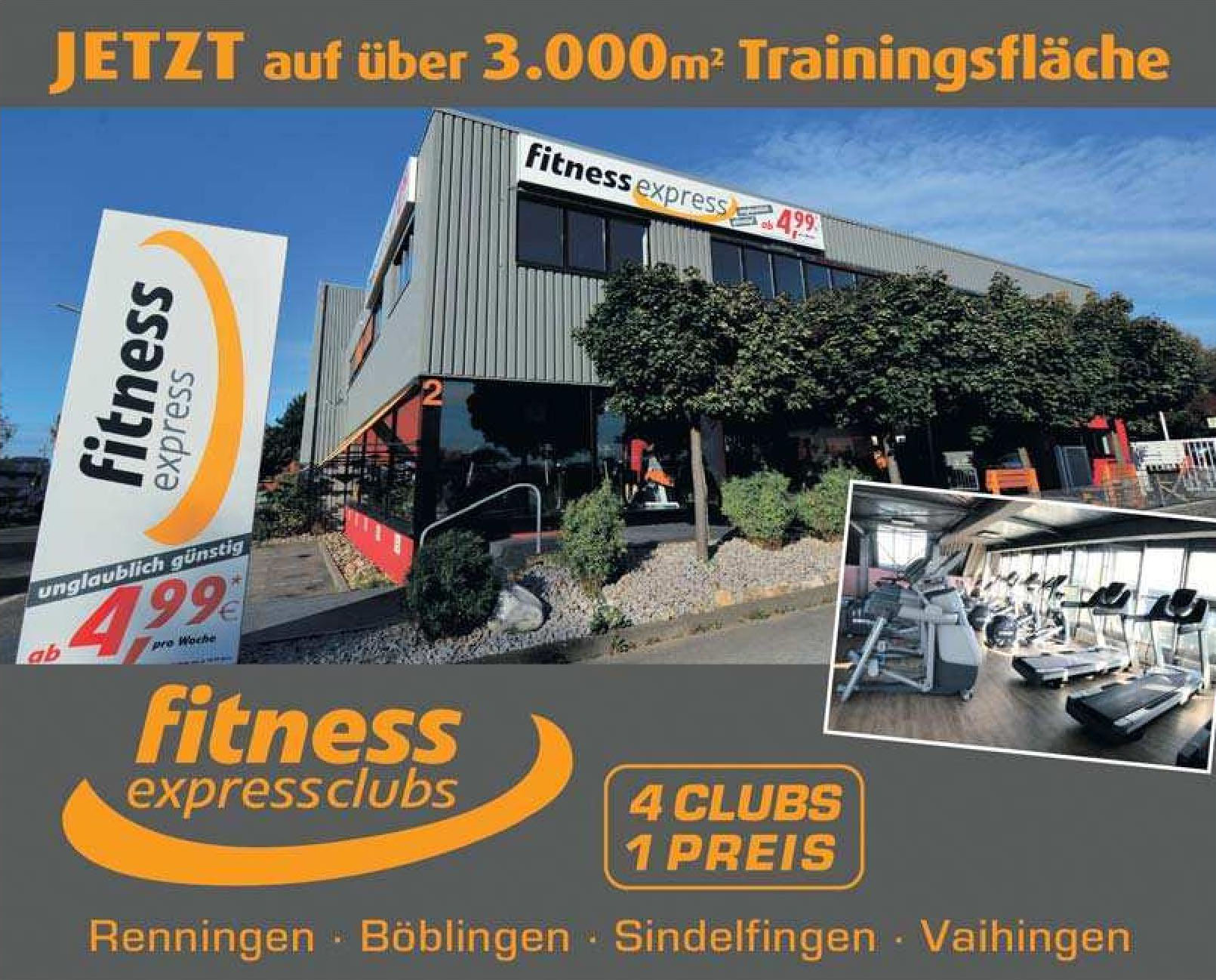 Fitness express clubs