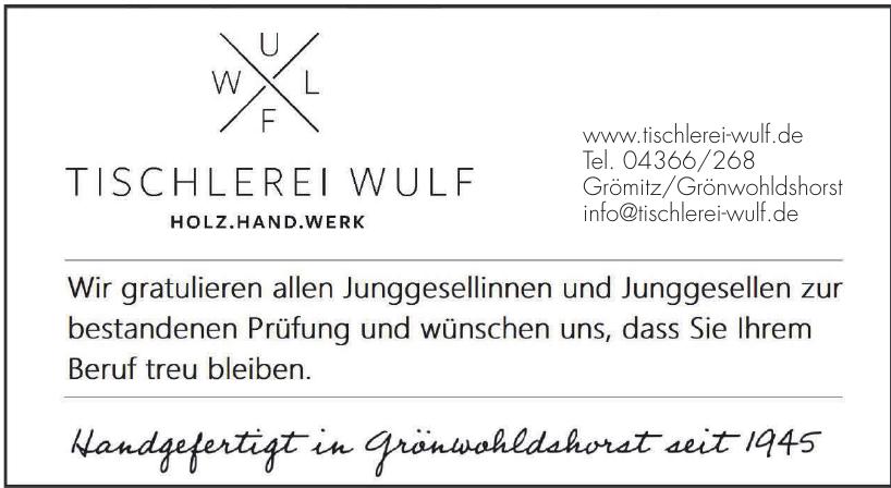 Tischlerei Wulf