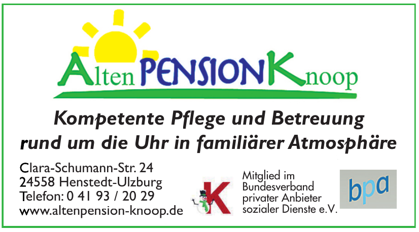 Alten Pension Knoop