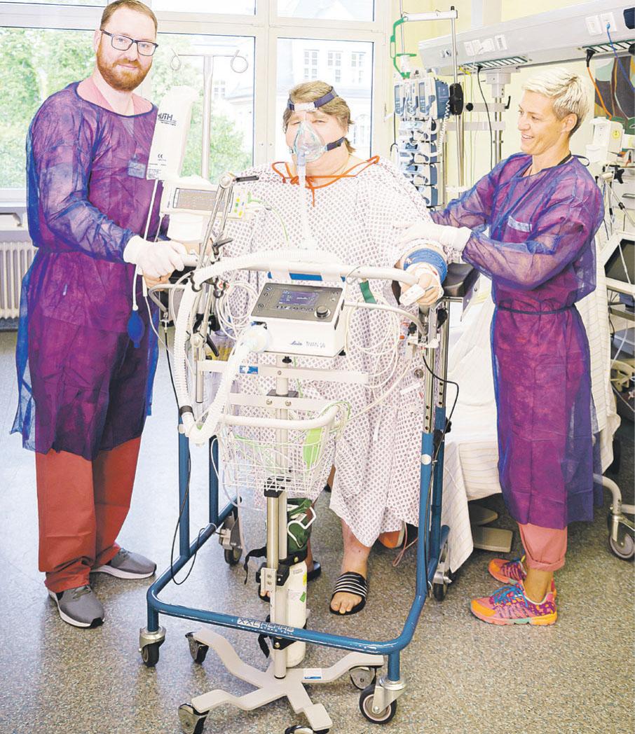 Die intensive Therapie im Weaningzentrum hilft, Patienten von der dauerhaften Beatmung zu entwöhnen