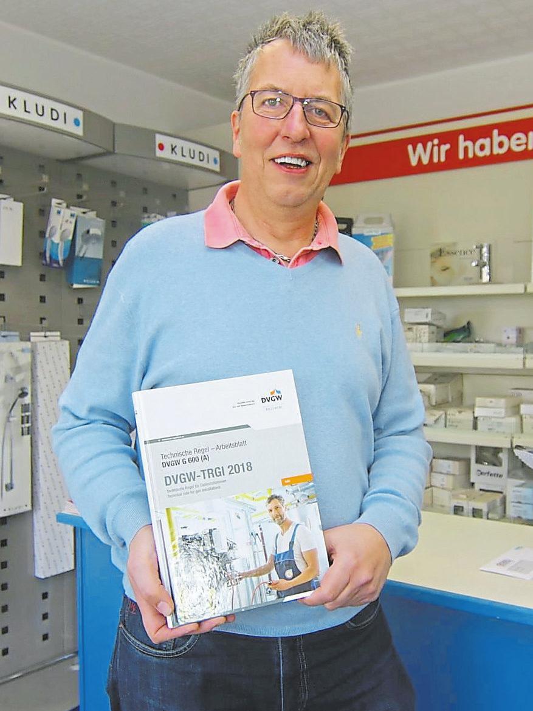 Andreas Wilinski wünscht sich, dass Hauseigentümer auf die Sicherheit ihrer Gasleitungen achten. Foto: rst