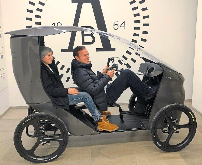 Das E-Bike wird dem Auto zunehmend ähnlicher. CityQ heißt ein Velomobil aus Norwegen. Foto: CityQ