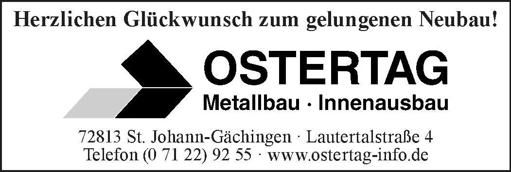 Ostertag Metallbau-Innenausbau