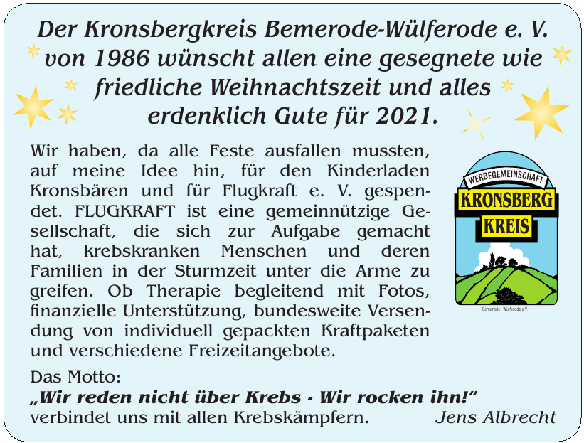 Der Kronsbergkreis Bemerode-Wülferode e. V.