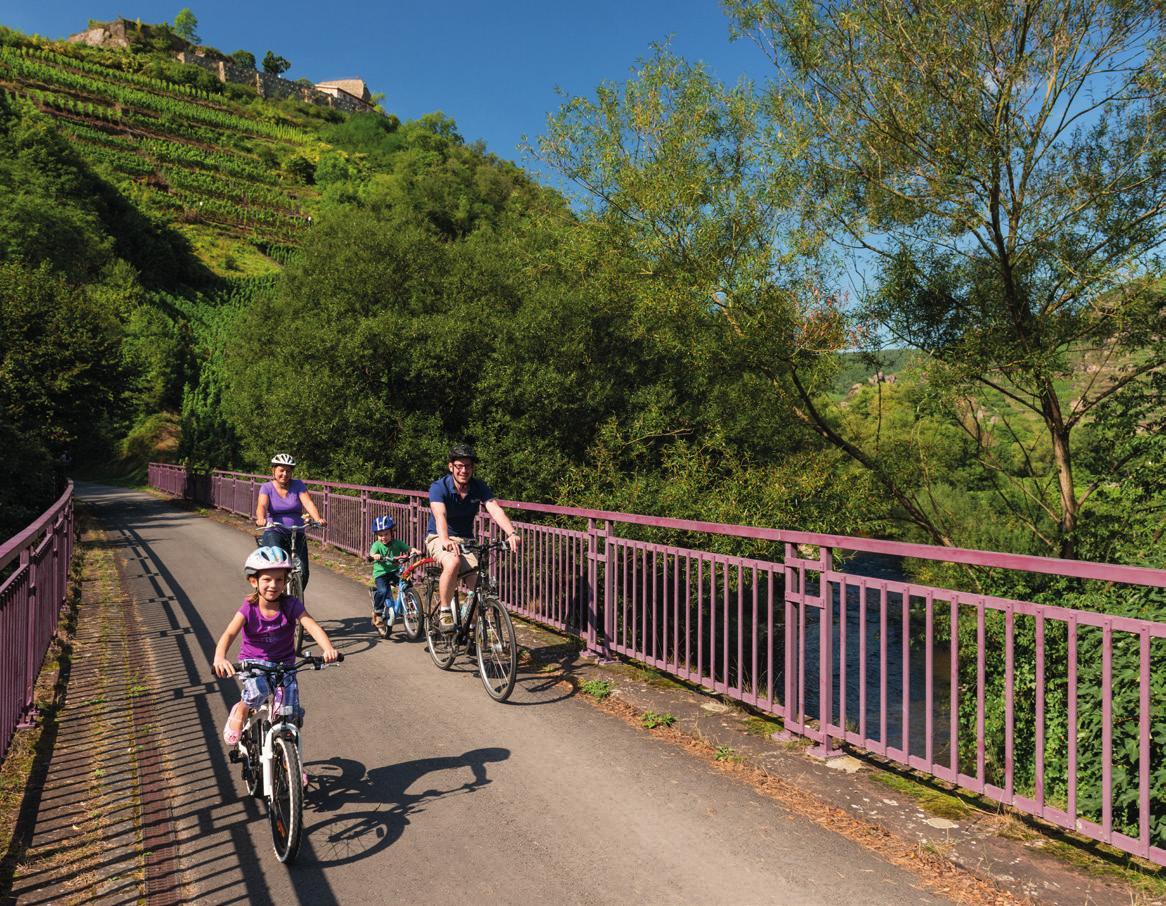 Ein Familienausflug auf dem Ahr-Radweg.