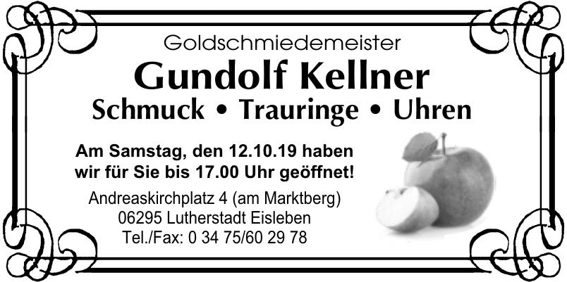 Goldschmiedemeister Gundolf Kellner