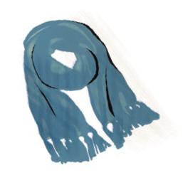 Platz 7 der Geschenke-Hits: Bekleidung wie etwa ein edler Kaschmir-Schal.