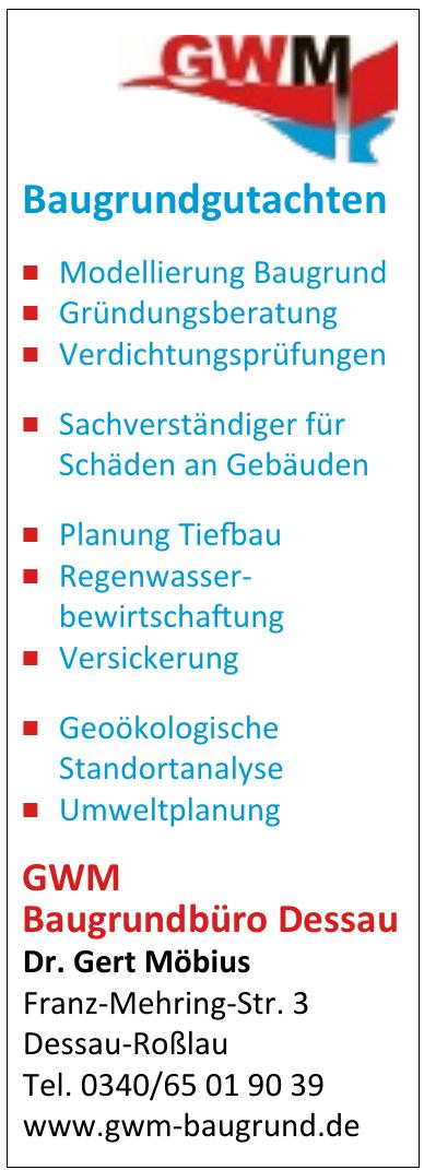 GWM Baugrundbüro Dessau