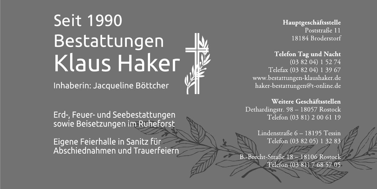 Bestattungen Klaus Haker