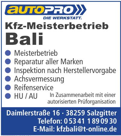 Kfz-Meisterbetrieb Bali