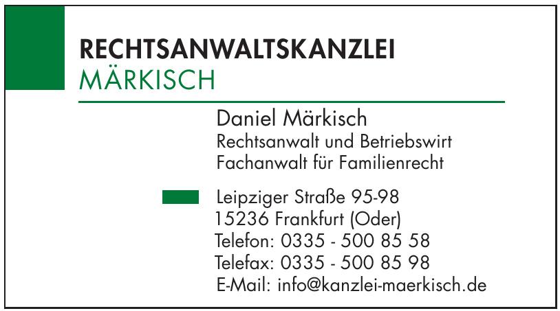 Daniel Märkisch Rechtsanwalt