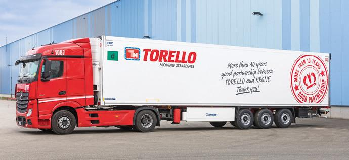 """The message on the side of this Cool Liner is a """"thank you"""" for ten years of great partnership between Torello and Krone."""