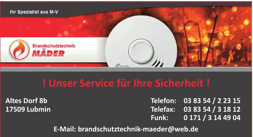 Brandschutztechnik Karsten Mäder