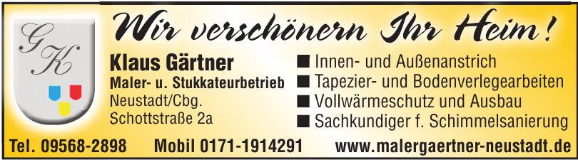 Klaus Gärtner Maler- u. Stukkateurbetrieb