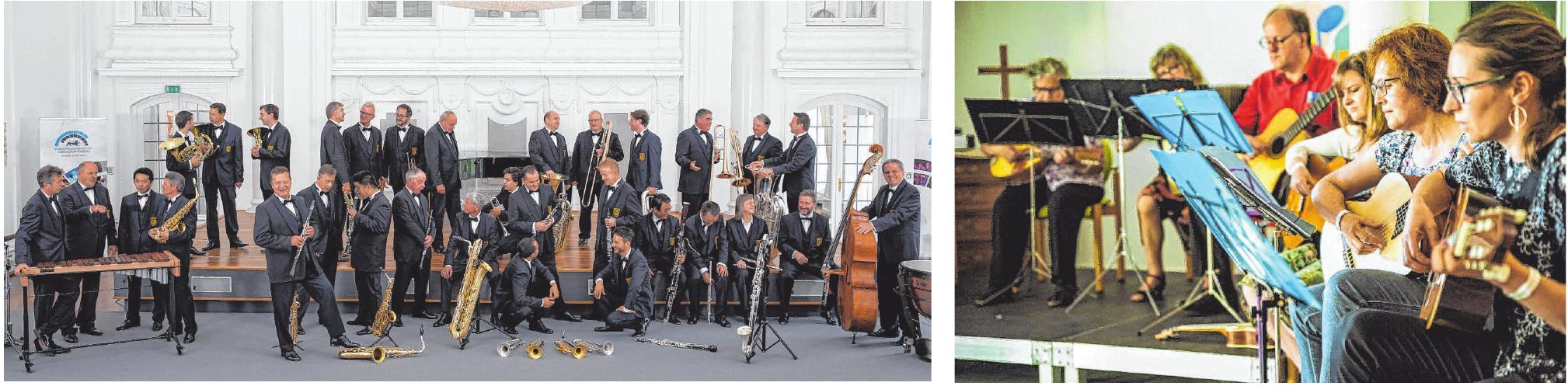Das Landespolizeiorchester (links) wird am Samstag, 18. September, um 19 Uhr auf der Sparkassen-Bühne am Neresheimer Marienplatz auftreten.