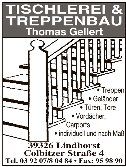 Tischlerei & Treppenbau Thomas Gellert