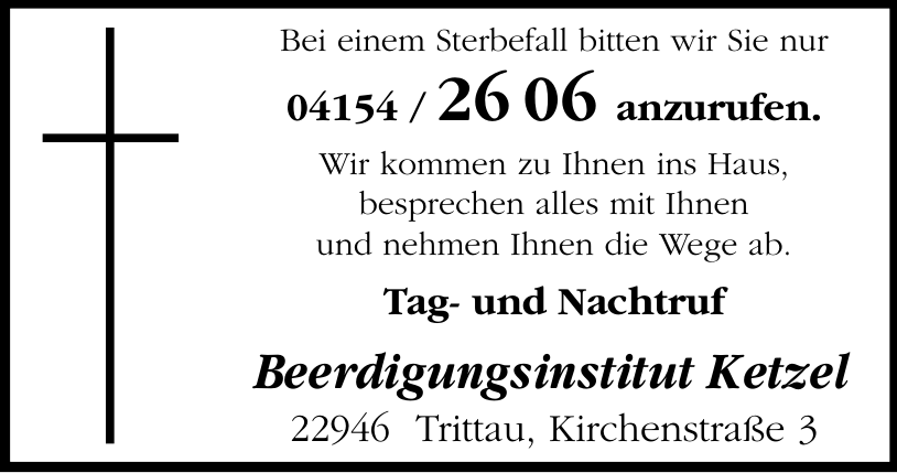 Beerdigungsinstitut Ketzel