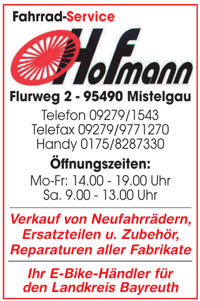 Hofmann Fahrrad-Service