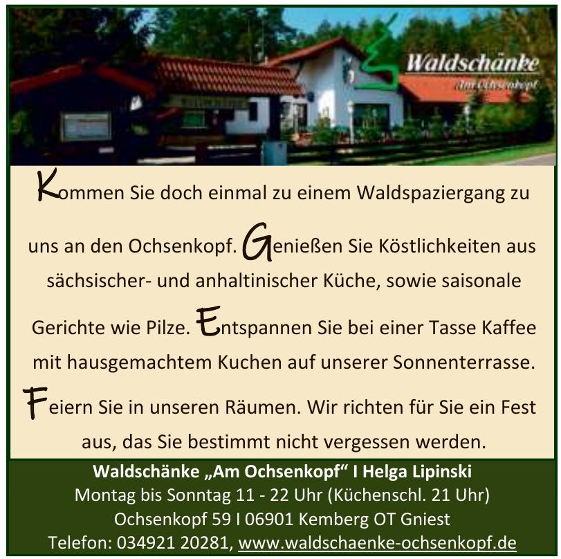"""Waldschänke """"Am Ochsenkopf"""""""