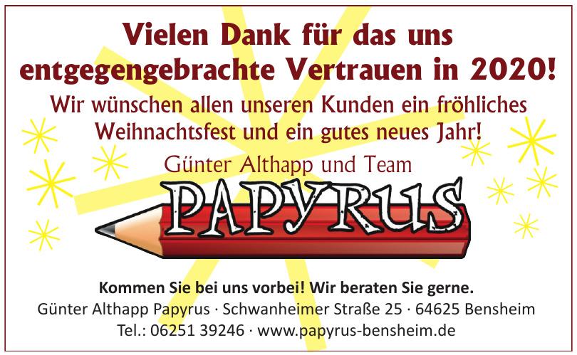 Günter Althapp Papyrus