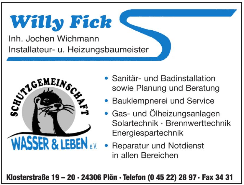 Wasser & Leben e.V Willy Fick